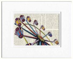 carnival ride carousel print by FauxKiss on Etsy