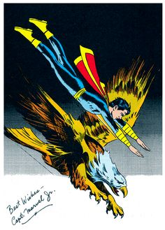 Mac Raboy - despite the static look of capt. Marvel Junior, there is energy here - coming from the eagle! Original Captain Marvel, Captain Marvel Shazam, Archie Comics, Dc Comics, Comic Books Art, Comic Art, Magic Book, Classic Comics, Dc Heroes