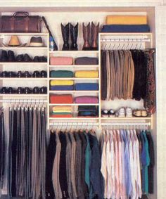 Looking for some fresh ideas to remodel your closet? Visit our gallery of leading best walk in closet design ideas and pictures. Men Closet, Closet Bedroom, Master Closet, Closet Space, Master Bedroom, Girls Bedroom, Small Closet Organization, Closet Storage, Organization Ideas