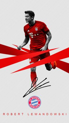 Robert Lewandowski iPhone wallpaper.
