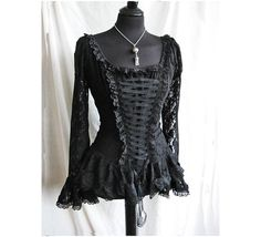 Victorian Black Lace Blouse Somnia Romantica by Marjolein Turin