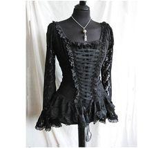 Victorian Black Lace Blouse Somnia Romantica by Marjolein Turin