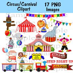 Circus Carnival Digital clipart INSTANT DOWNLOAD by BridalBust
