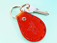 Click To Shop Now – Handmade Leather Keyring, Leather Keychain, Why not check out my Etsy shop? #horse #keyring #leather #keychain #animal #handstamped #birthdaygift #christmasgift Leather Bookmark, Leather Keyring, Leather Gifts, Handmade Leather, Leather Craft, Horse Gifts, My Horse, Key Fobs, Sister Gifts