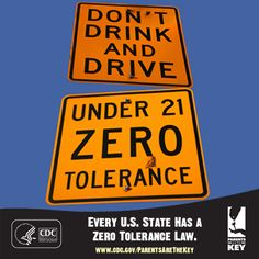 All 50 states have a zero tolerance law that prohibits everyone under 21 from driving if they have any measurable amount of alcohol in the blood or breath.