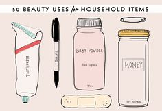 50 Brilliant Beauty Uses for Common HouseholdItems | Beauty High