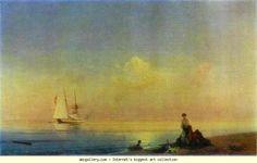 Ivan Aivazovsky. Seashore. Calm. Olga's Gallery.