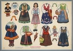 77.4201: Norske Bunader (Norwegian National Costumes) | paper doll | Paper Dolls | Dolls | Online Collections | The Strong