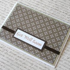 """Get Well Soon card is a perfect card to show your thoughtfulness for your loved one who is under the weather.   This card measures 6"""" x 4.25"""" and comes with a white envelope. The inside of the card is"""