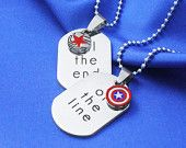 STUCKY Till the End of The Line Necklace Winter Soldier Captain America Friendship/Soul mate necklace Stainless Steel
