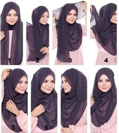 Find our latest new hijab styles 2020 step by step. Learn how to take hijab without a pin. You will be helped out in learning by making a tutorial series of taking hijab. See chest covering hijab style for girls and much more. Tutorial Hijab Pashmina, Square Hijab Tutorial, Hijab Style Tutorial, Turkish Hijab Tutorial, Stylish Hijab, Hijab Chic, Islamic Fashion, Muslim Fashion, Hijab Mode Inspiration