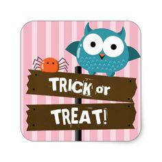 Customizable Halloween - Mochi Haunted House Square Sticker - kids kid child gift idea diy personalize design