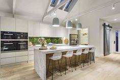 Property Report for 14 Irymple Avenue, Kew East VIC 3102 Kitchen Island Bench, Kitchen Benches, Kitchen Island Lighting, Kitchen Dining, Kitchen Drawers, Kitchen Room Design, Kitchen Interior, Kitchen Layout, Marble Island