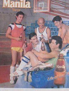 Manila Beer. Philippine print ad. Circa 1980s.