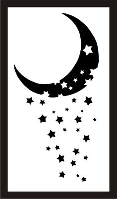 moon minus stars by melancholy-spiders on DeviantArt Halloween Acrylic Nails, Star Clipart, Moon Silhouette, Tattoo Outline, Flash Art, Star Tattoos, Moon Art, Art Drawings Sketches, Stars And Moon