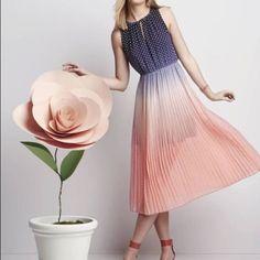 Maison Jules Ombr Polka Dot Midi Dress