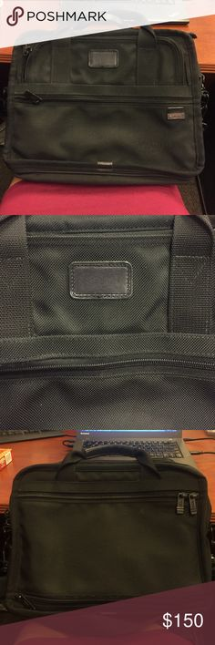 Tumi Bag Shoulder strap. Black. Normal wear shown. See pic 4 Tumi Bags Laptop Bags