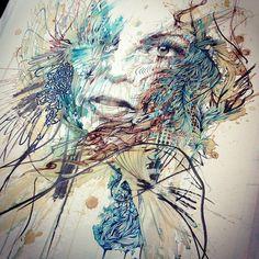 Portraits in Ink and Tea, London Art Fair 2015