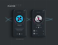 BOOZ : iOS Music Player App on Behance player - make up room studio Android Design, App Ui Design, Interface Design, Makeup App, Mobile Web Design, App Design Inspiration, Apps, Music App, Behance