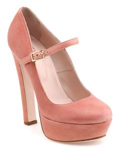 RED Valentino Leather Mary Jane Pump