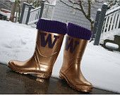 Husky Rain Boots Tailgating Boots she does custom orders!