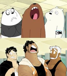 We Bare Bears man version 7 Cartoon As Anime, Cartoon Fan, Cartoon Games, Cartoon Shows, Cartoon Pics, Character Concept, Character Art, We Bare Bears Human, Cartoon Characters As Humans
