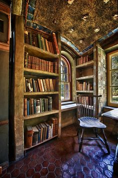 Bookpeople: when you see a bare shelf that must be filled! Fonthill Castle in Doylestown, PA