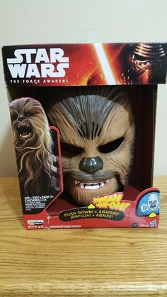 Hasbro Star Wars The Force Awakens Chewbacca Electronic Talking Mask Moving Jaw