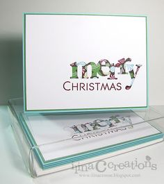 Simple Christmas card gift set