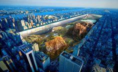 Juxtapoz Magazine - New York Horizon Proposal Excavates Central Park