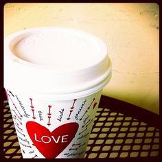 LOVE the Valentine's Starbucks coffee cups