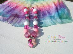 Heart Cat Chunky Bubblegum Necklace by LittleDivaBubblegum on Etsy, $24.00