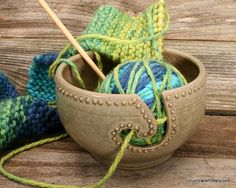 Yarn Bowl Mother's Day Gift Crochet Knitting by HurricanePottery, $37.00