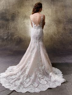 2017 Enzoani, Lotus, Available at Uptown Bridal- www.uptownbrides.com