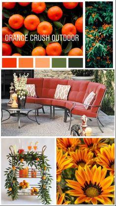 A fun summer spot bright with orange and leafy greens. Albany Oregon, Call Orange, Corvallis Oregon, Orange Crush, Large Homes, Summer Fun, Home Furnishings, Mattress, Diana