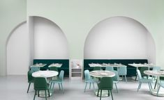 Completed in 2017 in Chengdu, China. Images by James Morgan. Filmmaker Wes Anderson's distinctive visual style provided the inspiration for The Budapest Café in Chengdu, China. Our design draws on Anderson's. Cafe Bar, Cafe Restaurant, Restaurant Design, Modern Restaurant, Mary Winchester, Mensa, Cafe Pictures, Wes Anderson, Interior Decorating
