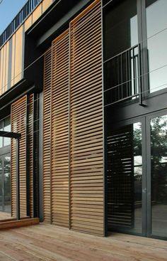 Modern Exterior Shutters For a Stylish Facade- Modern Exterior Shutters For a Stylish Facade Residential Villa Artez - Design Exterior, Modern Exterior, Modern Patio, Diy Exterior, Louvered Shutters, Exterior Shutters, Farmhouse Shutters, Rustic Shutters, Repurposed Shutters