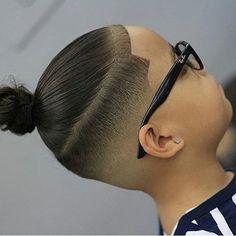 "This ""boy bun"" by @l0u_da_barber is our #wahlcutoftheday #wahl #wahlpro #haircut #manbun #fade #kidscuts #barber #stylist #freshcutfriday"