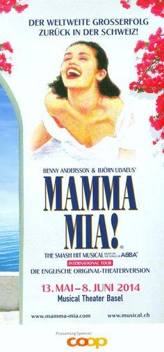 ABBA - MAMMA MIA! ORIG. MUSICAL FLYER - 2014 BASEL SWITZERLAND