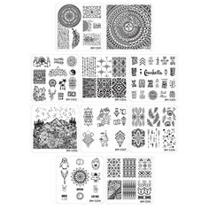 Maniology (formerly bundle monster) Nail Art Polish Manicure Stamping Plates-Festival Collection (Pack of Set Nail Stamping Designs, Diy Nail Designs, Nail Stamping Plates, Diy Manicure, Diy Nails, Bundle Monster, Seasonal Nails, Image Plate, Nail Plate