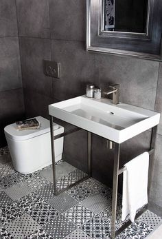 Are washstands the next big thing? Or do you prefer a classic basin and pedestal design?  #tecaztrends #washstand #bathroomdesign #basin