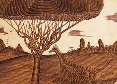 Biro su carta per avvolgere semi di zucca abbrustoliti Art Brut, Biro, Outsider Art, The Outsiders, Moose Art, Sicilian, Palermo, Animals, Painting