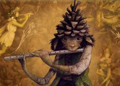Flute-playing fairy creature by Brian Froud.
