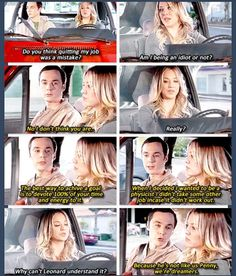 The most wonderful thing Sheldon has said to Penny.  And there wasn't an ounce of pretention in it