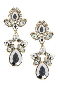 Pendientes de fantasía con gemas