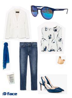Dface ITACARÉ Blue - Outfit Gafas de sol