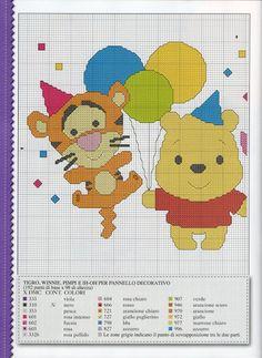 ♥Meus Gráficos De Ponto Cruz♥: Disney Cuties em Ponto Cruz - Festa!