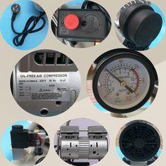 2hp 8 bar portable quiet air compressor with 12 gallon air tank