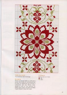 ideas for embroidery art deco cross stitch charts Cross Stitch Borders, Cross Stitch Flowers, Cross Stitch Charts, Cross Stitch Designs, Cross Stitching, Cross Stitch Embroidery, Embroidery Patterns, Cross Stitch Patterns, Embroidery Art