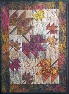 Kari Schell quilts | ... maple leaf fun by on point quilter enjoy kari schell on point quilter